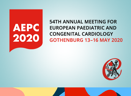 54th Annual meeting for european paediatric and congenital cardiology 2020